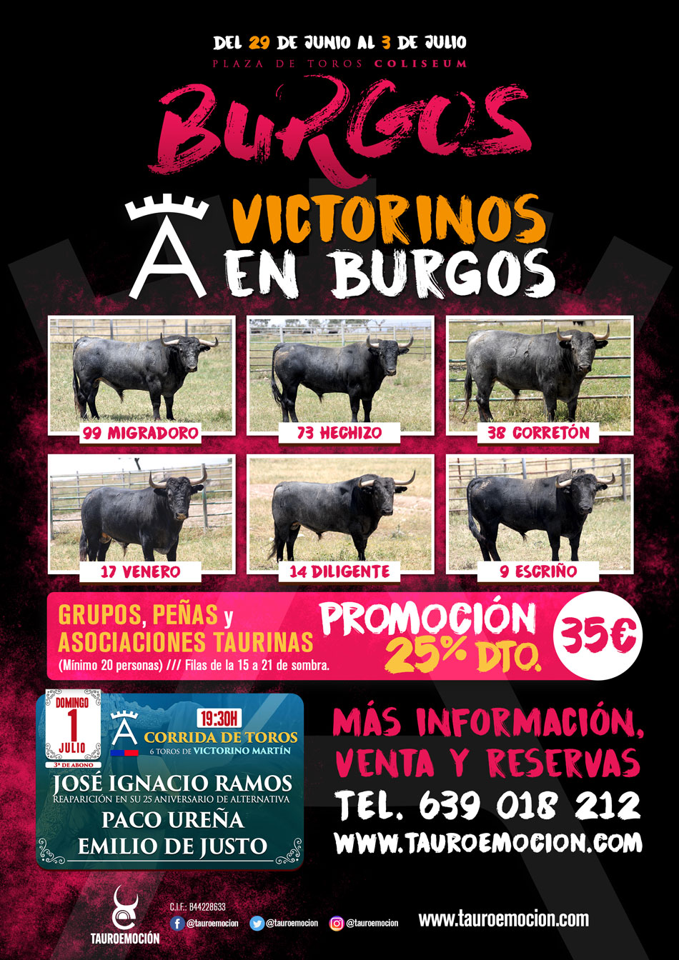Cartel Victorinos BURGOS
